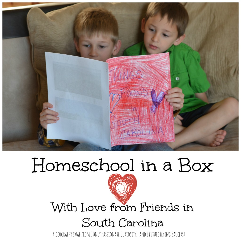 Homeschool in a Box- have a geography swap with friends!