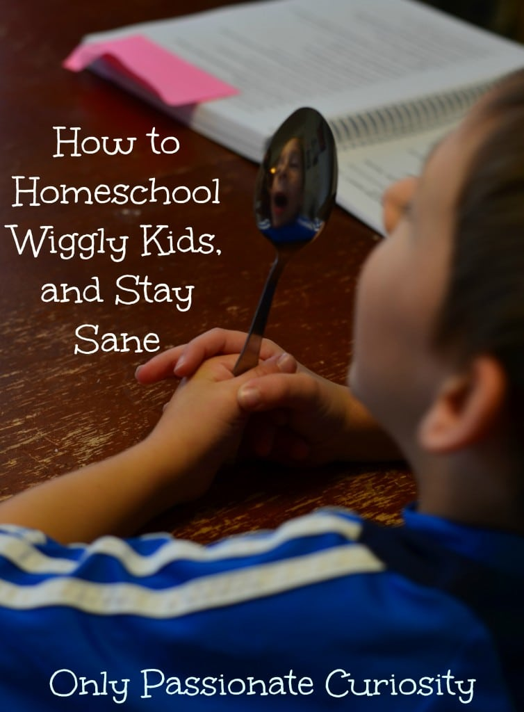How to homeschool the wiggly ones, and stay sane