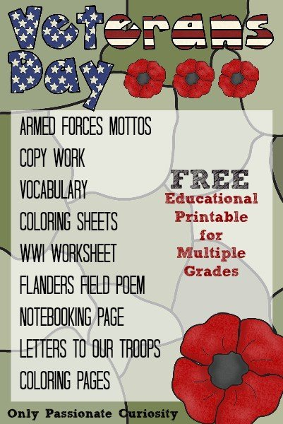 Veteran's Day Printable Pack for All Grades
