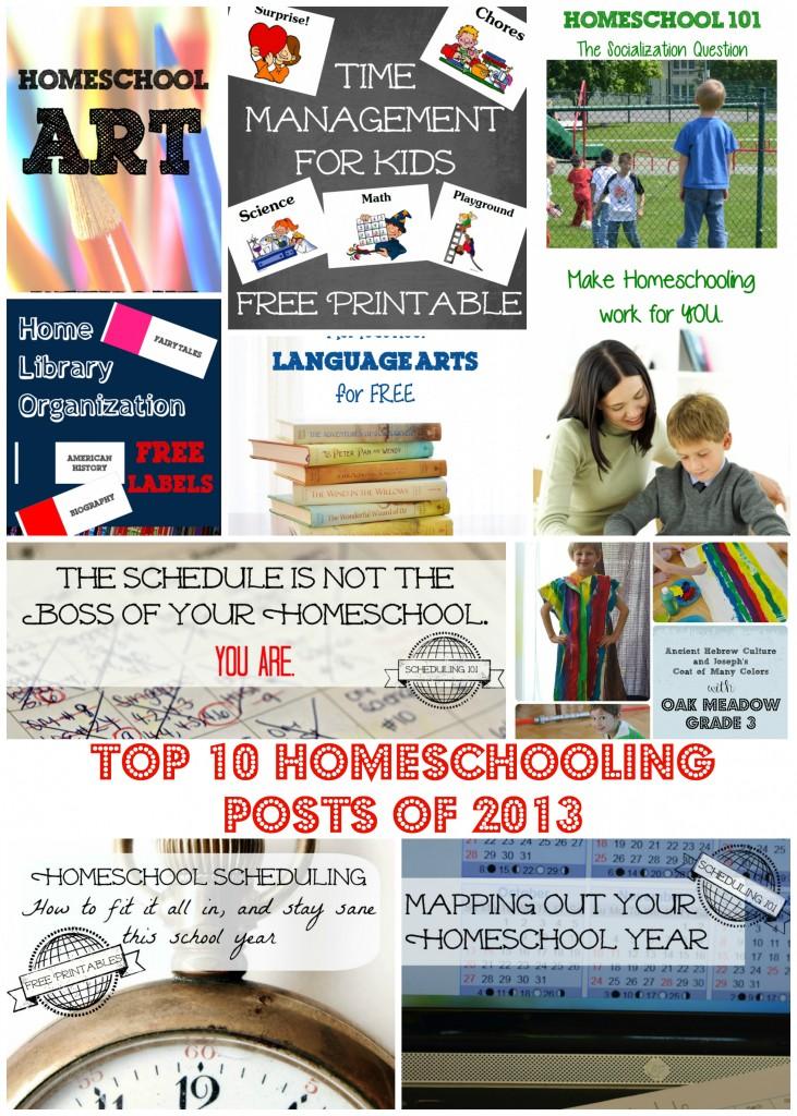 top 10 homeschool posts of 2013