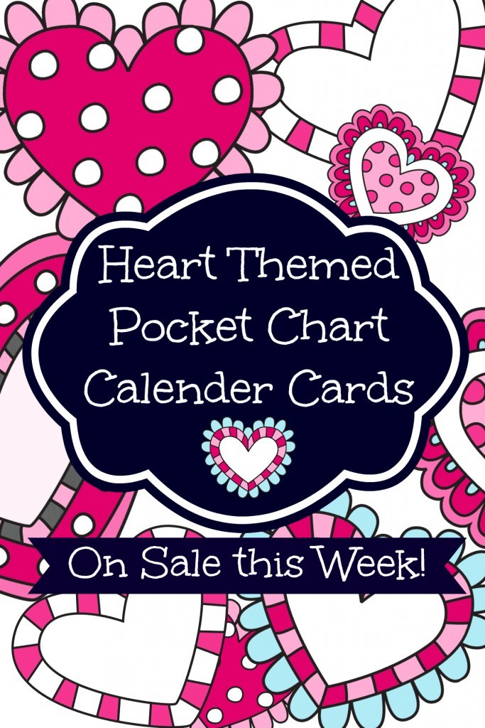 February Pocket Chart Calenders {On Sale This Week!}