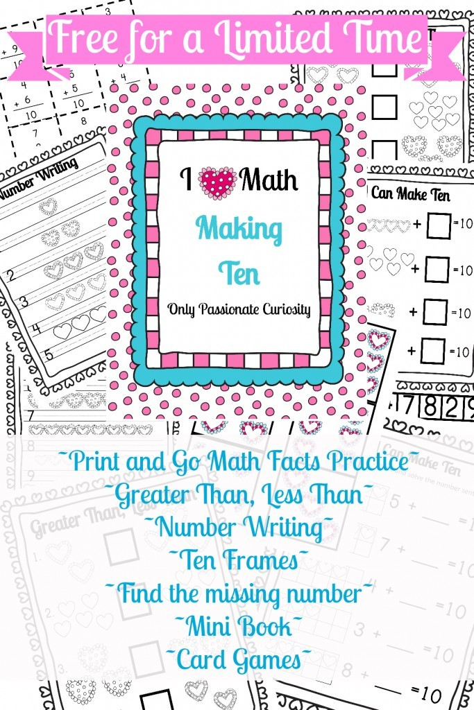 I *Heart* Math Practice for Addition Facts