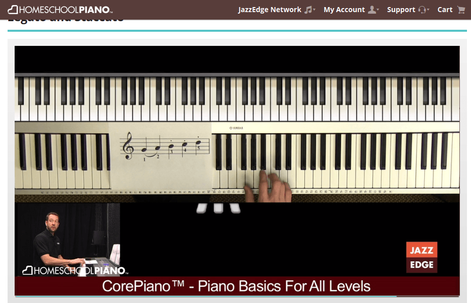 Lesson Screen HomeSchoolPiano review