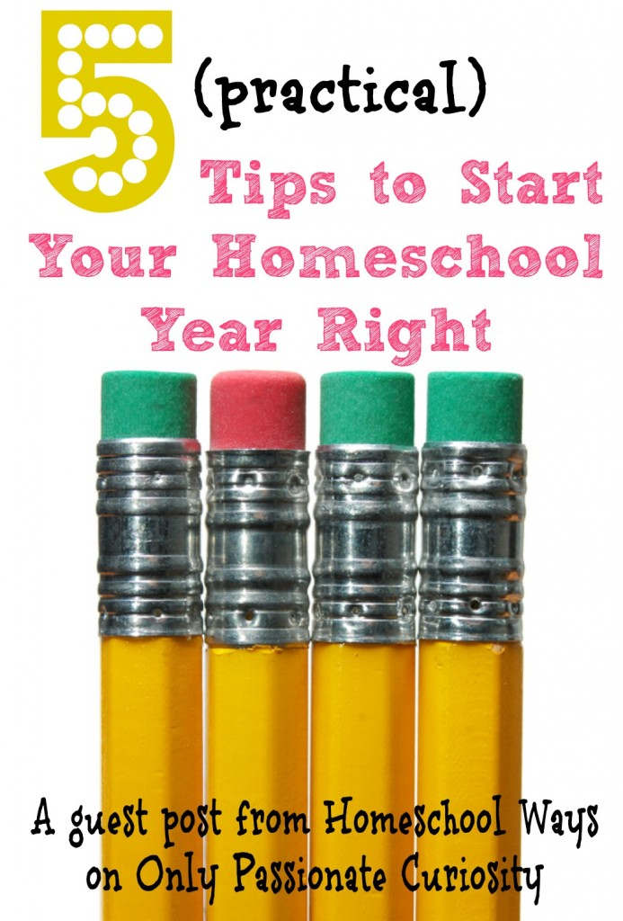 Tips to start your homeschool year right