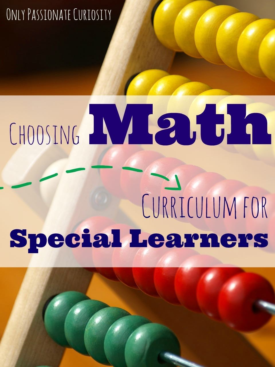 Math Curriculum for Special Learners
