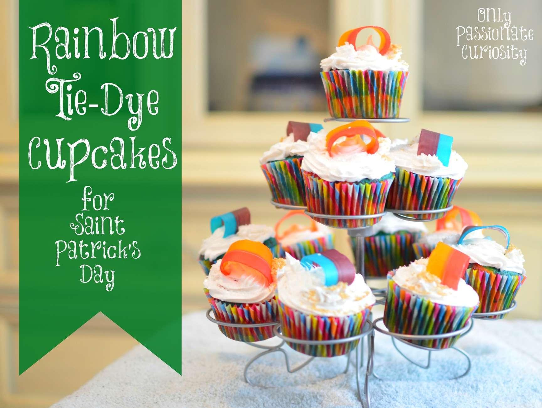 Rainbow Tie-Dye Cupcakes