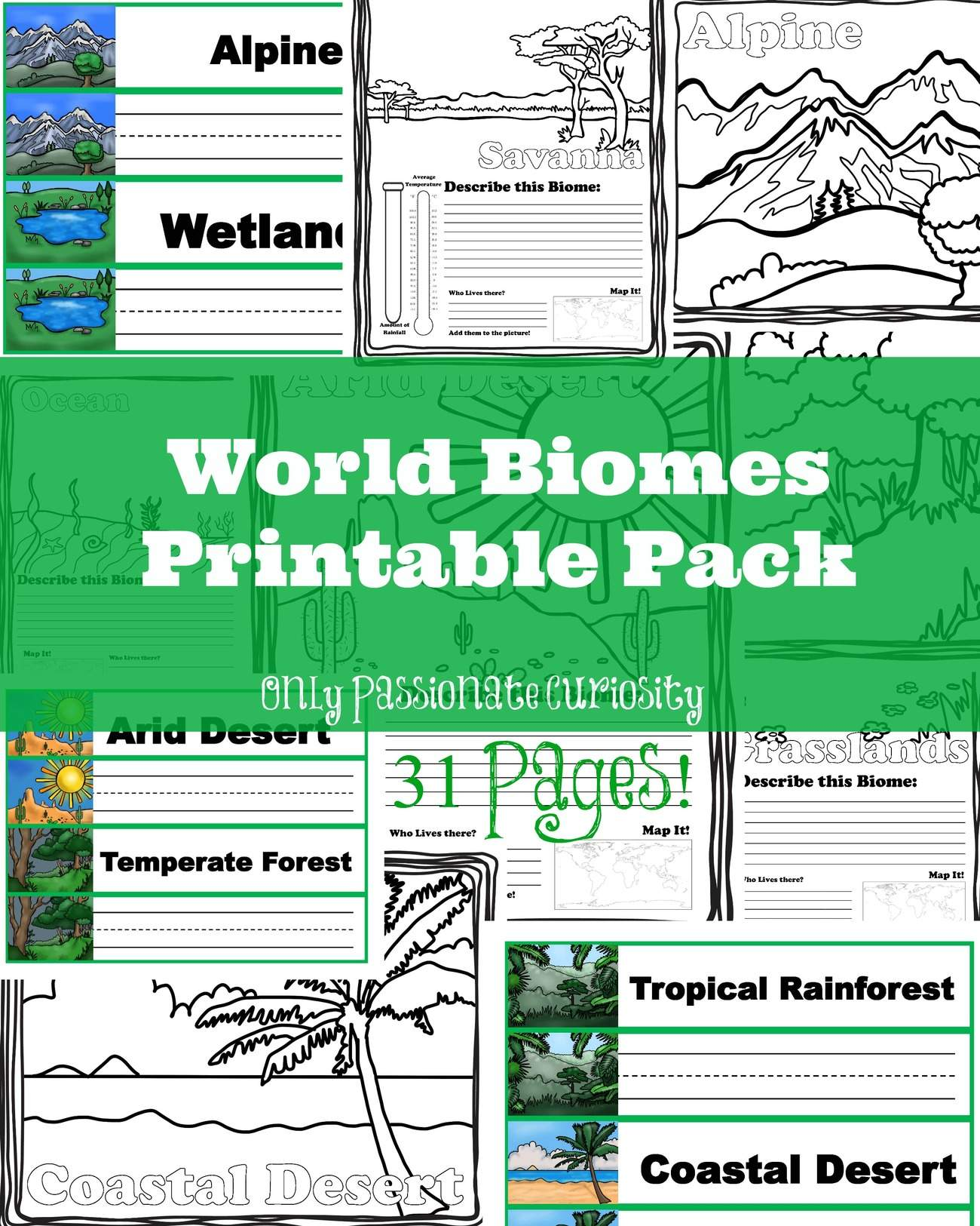 Learning about world biomes only passionate curiosity world biomes printable pack from only passionate curiosity gumiabroncs Images