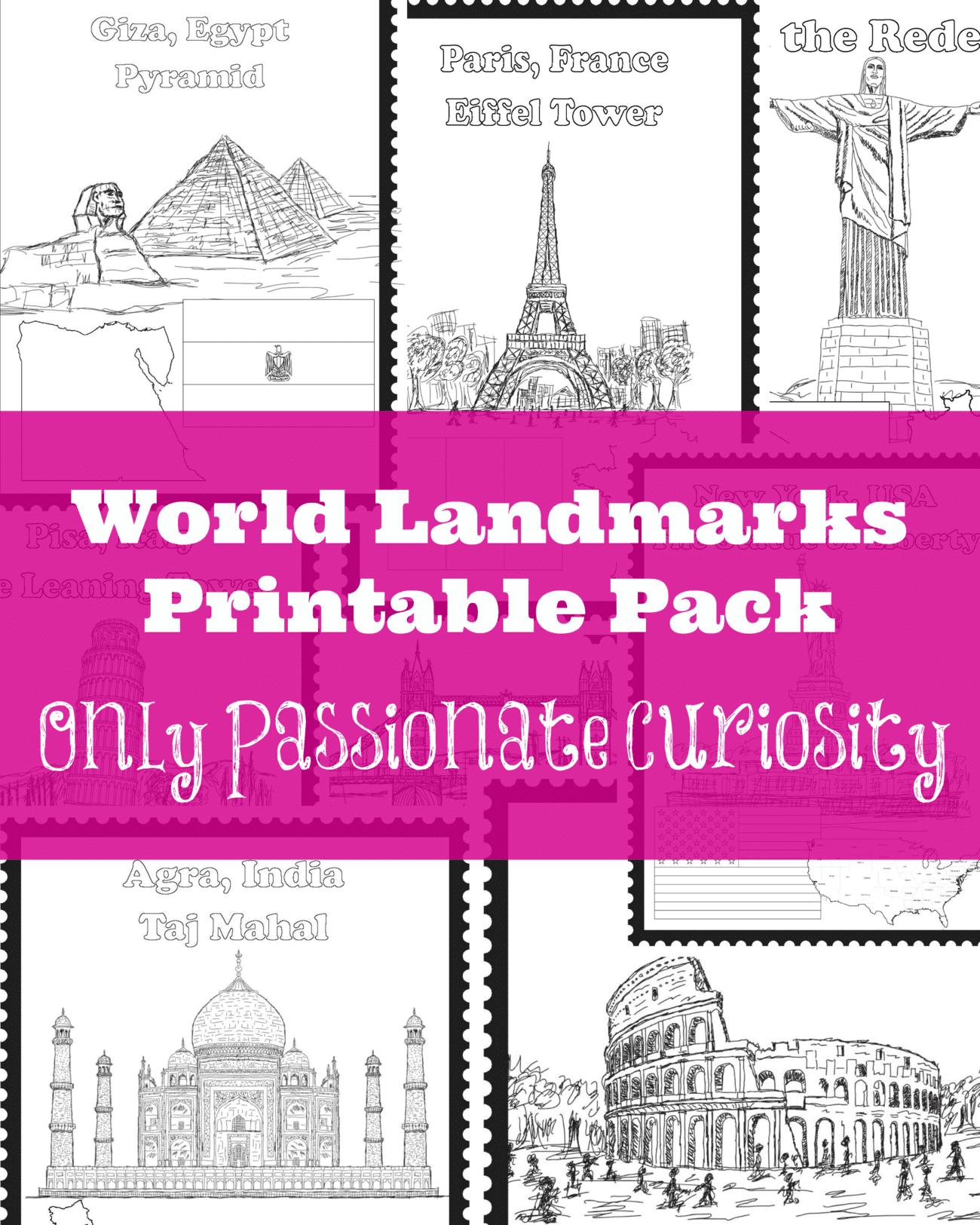 World Landmarks Printable Pack