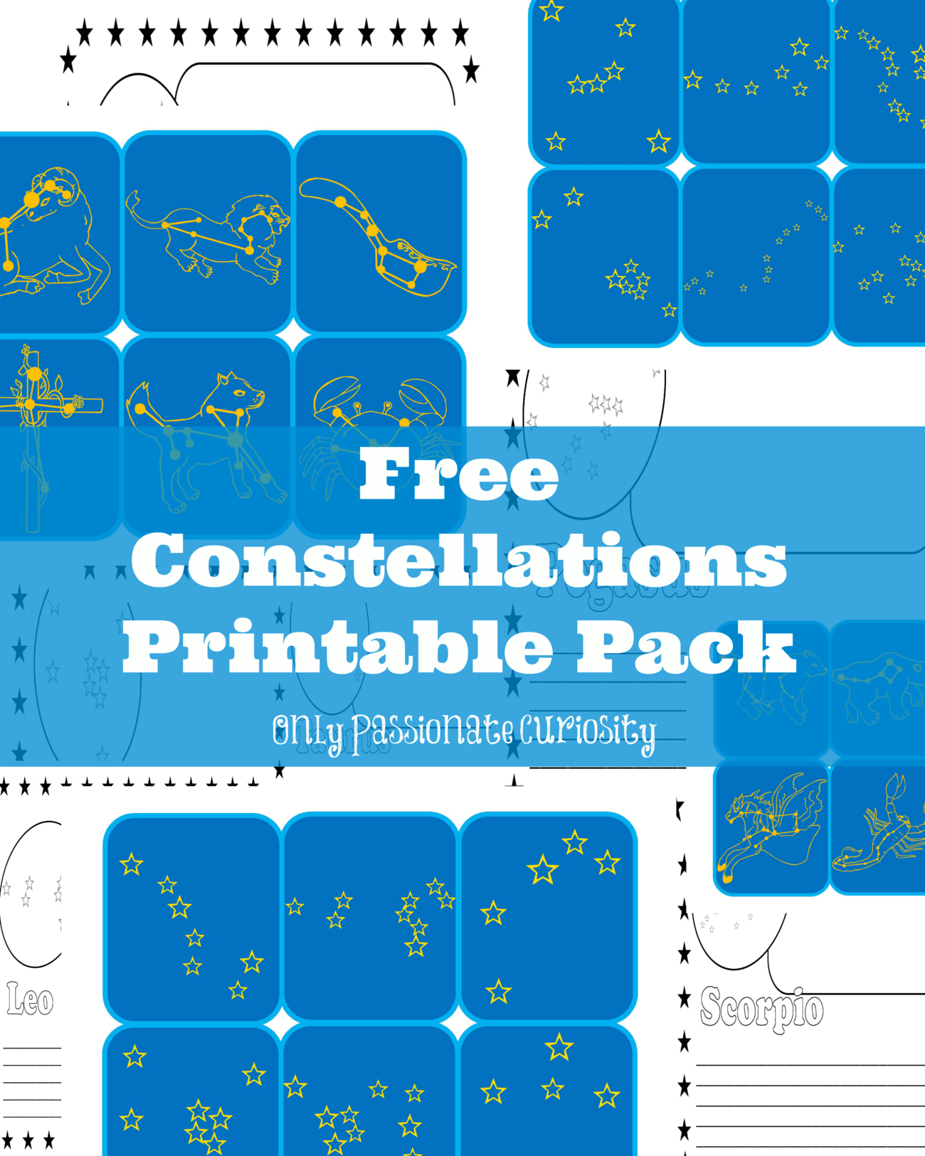 learning about constellations free printable pack only passionate curiosity. Black Bedroom Furniture Sets. Home Design Ideas