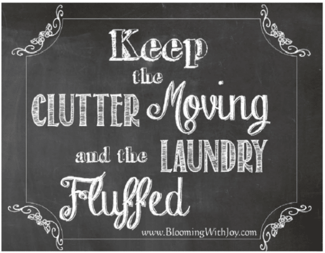 Keep the Clutter Moving