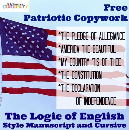 Patriotic Copywork