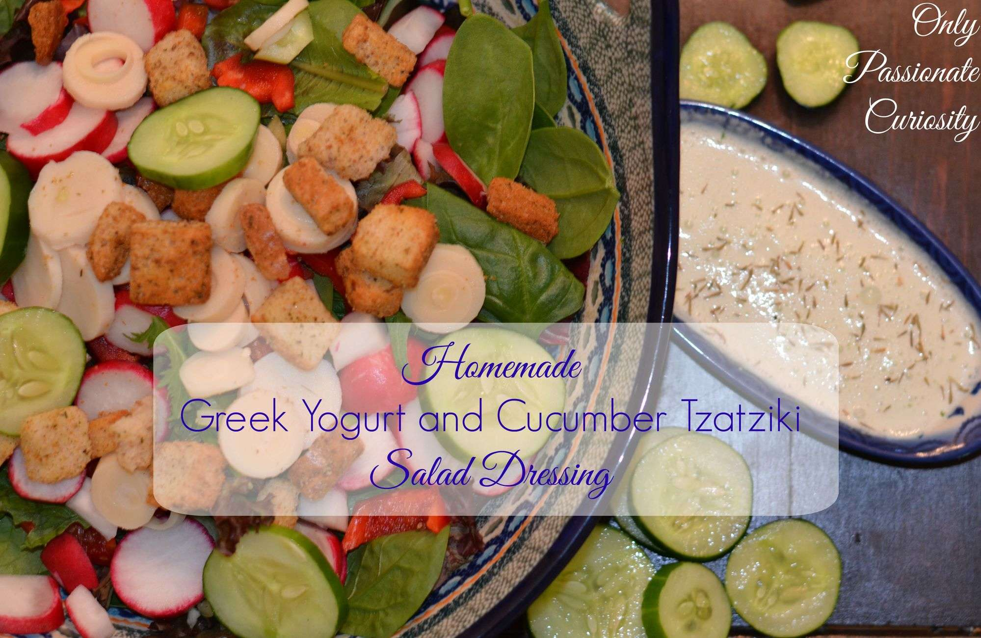 Easy Dinner Solution- Cucumber Greek Yogurt Salad