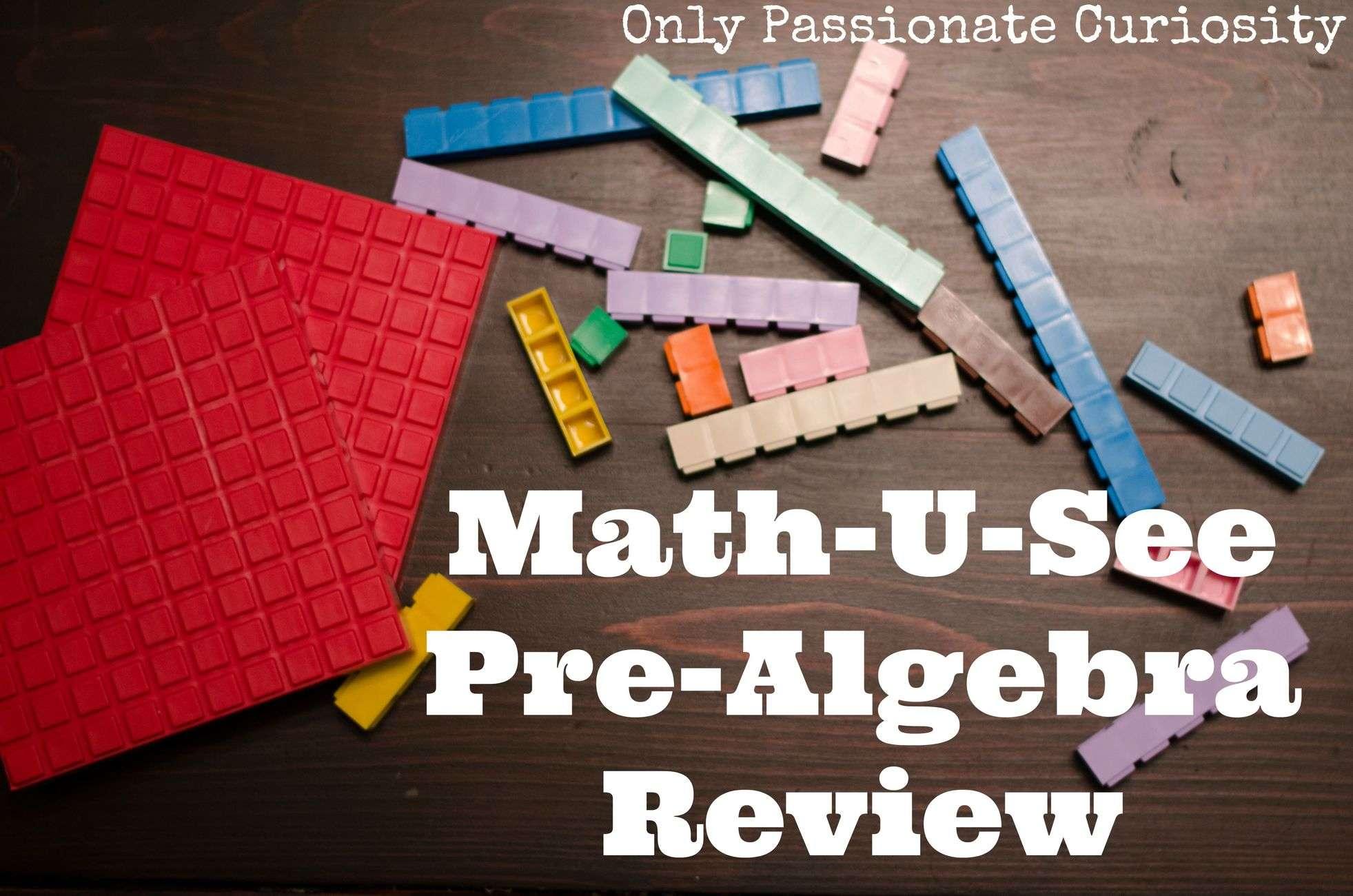 Math U See Pre-Algebra Review