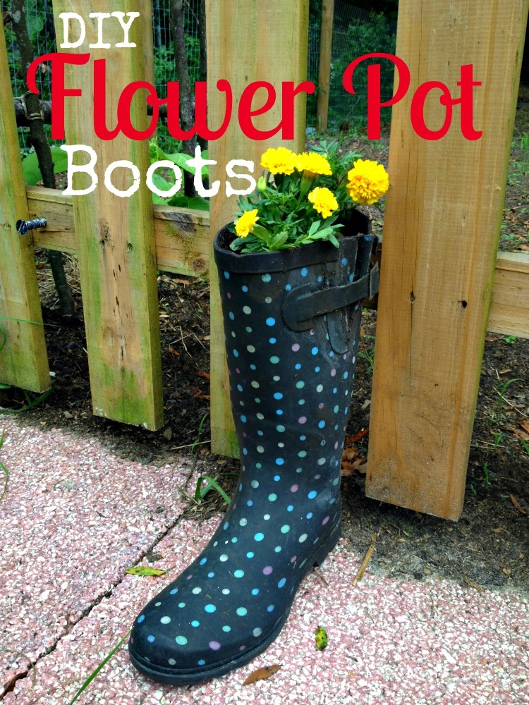 DIY Fall Flower Pot Boots