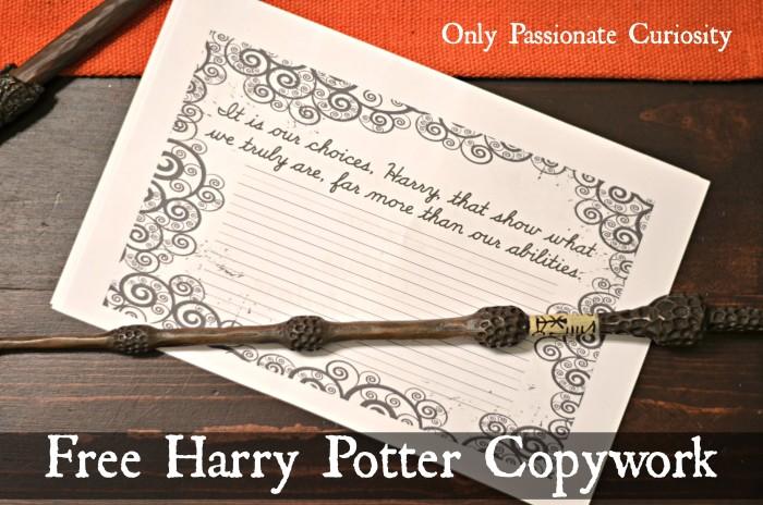 Dumbledore quote copywork