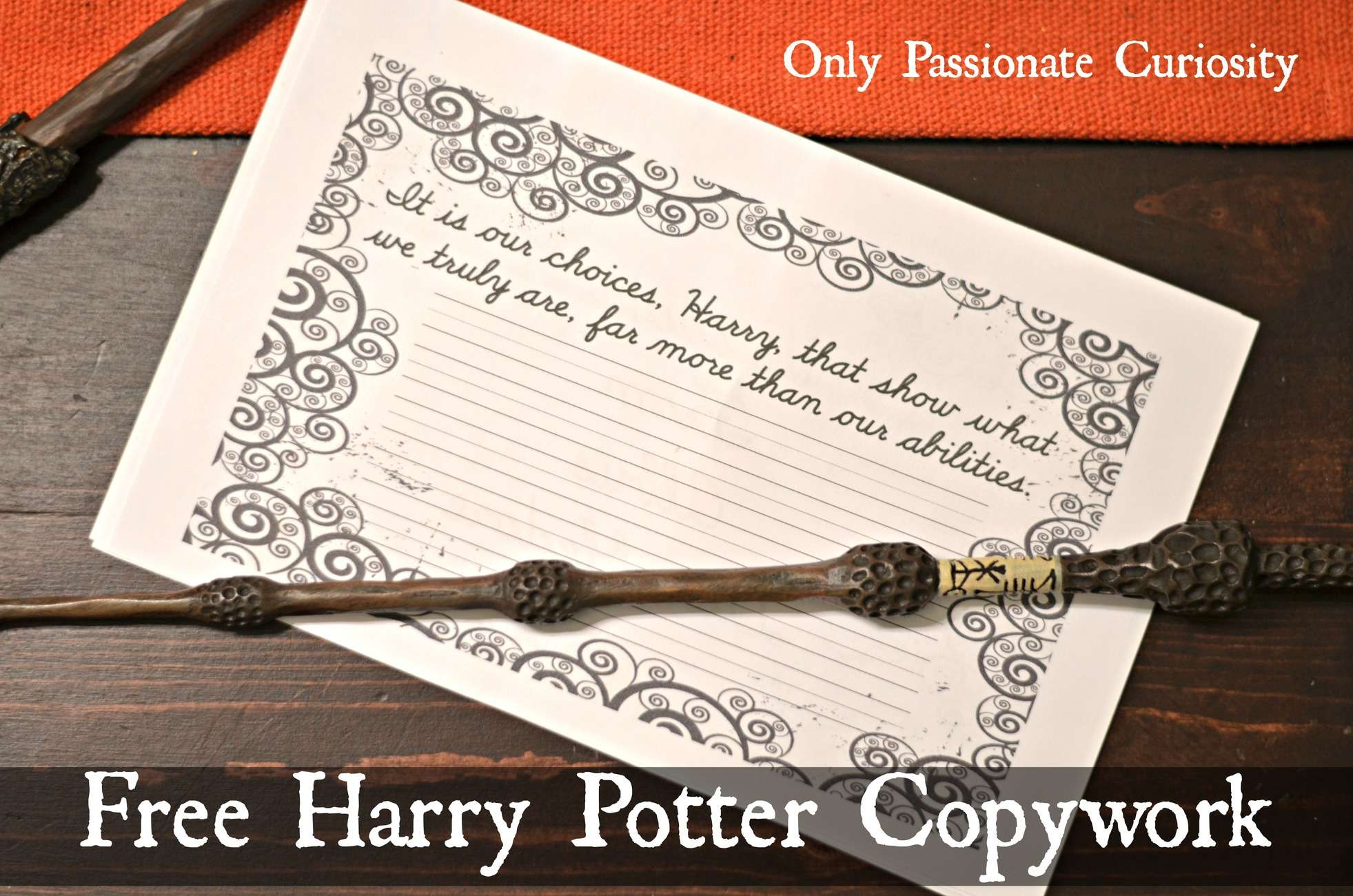 Free Harry Potter Themed Copywork – Dumbledore Quotes