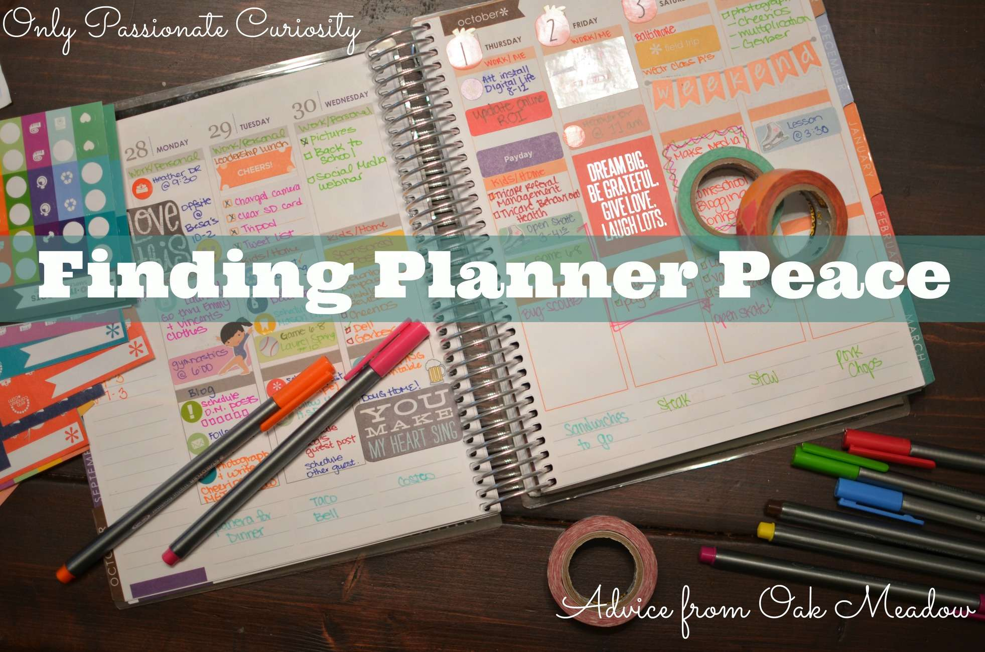 Planning for Success: Using a Weekly Planner to Find the Rhythm in your Homeschooling Life