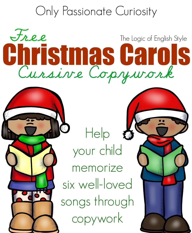Christmas Carol Cursive Copywork
