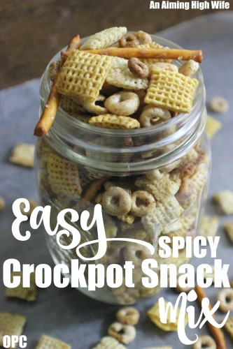 Crockpot Snack Mix