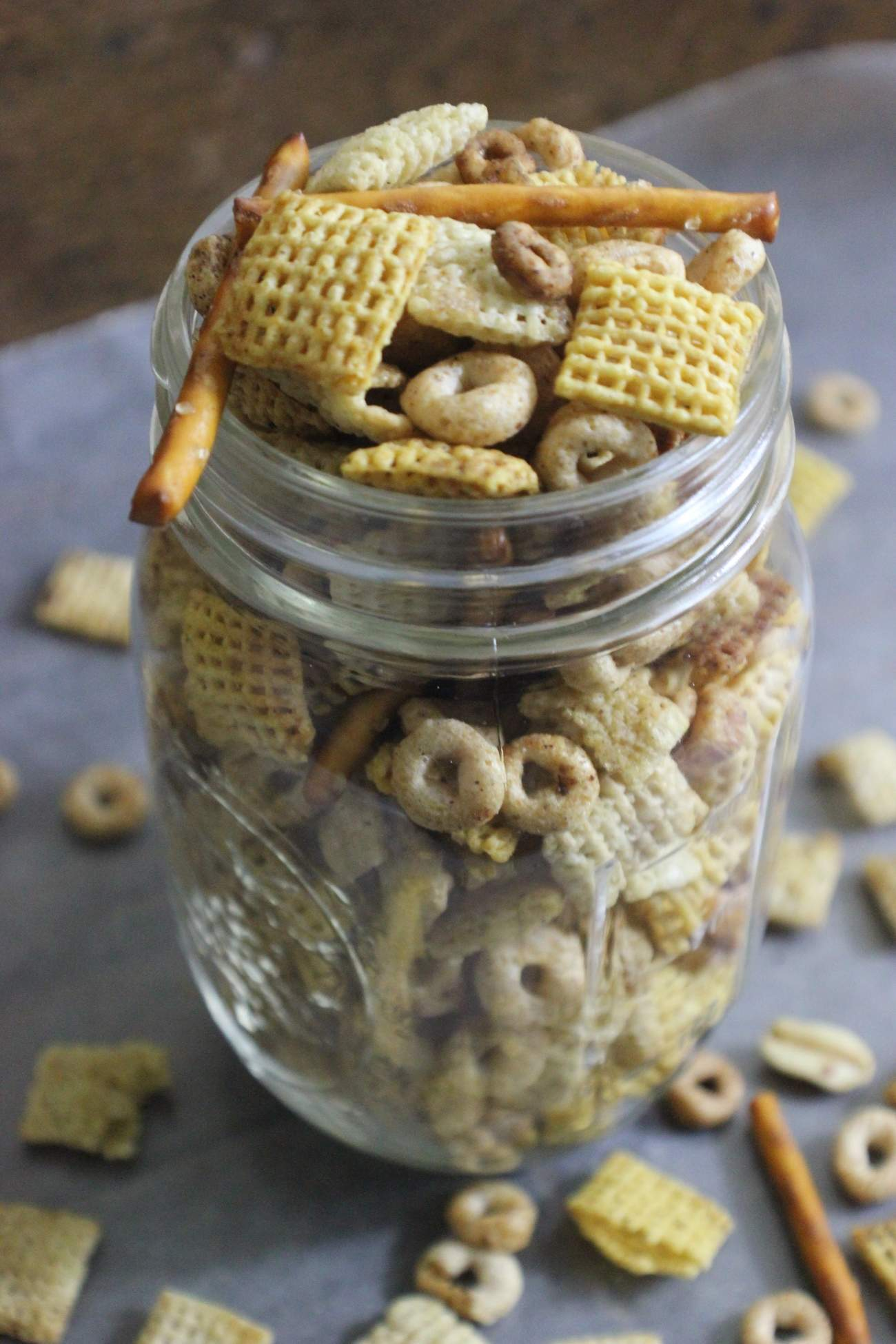 Spicy Crockpot Snack Mix