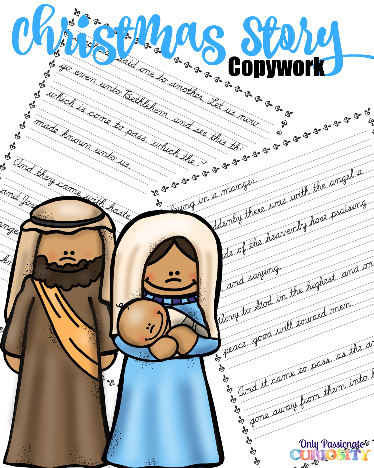 The Christmas Story {Logic of English Copywork}