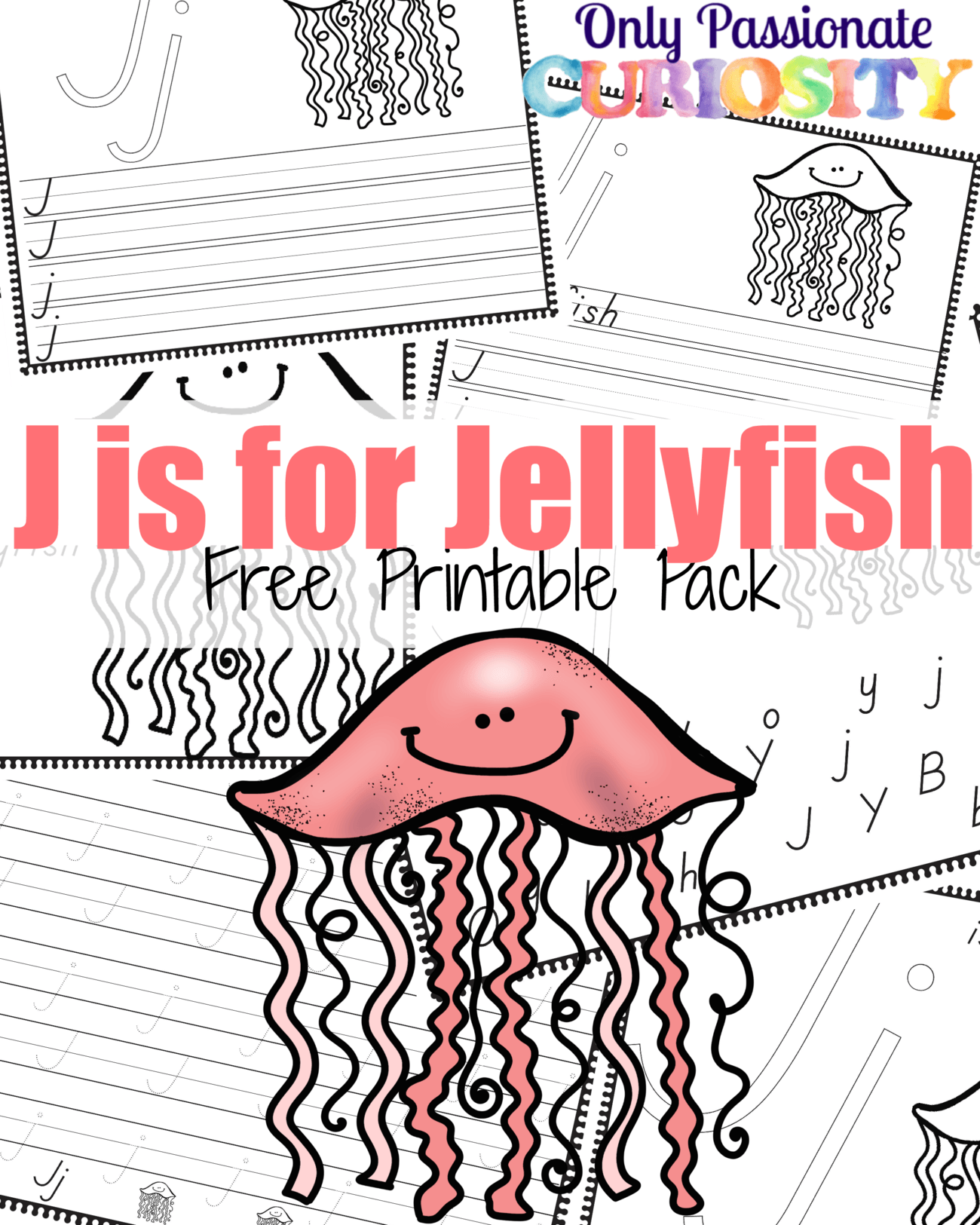 J is for Jellyfish Handwriting Activity Pack