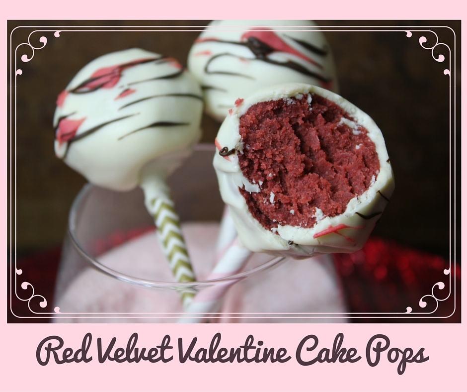 Red Velvet Valentine Cake Pops