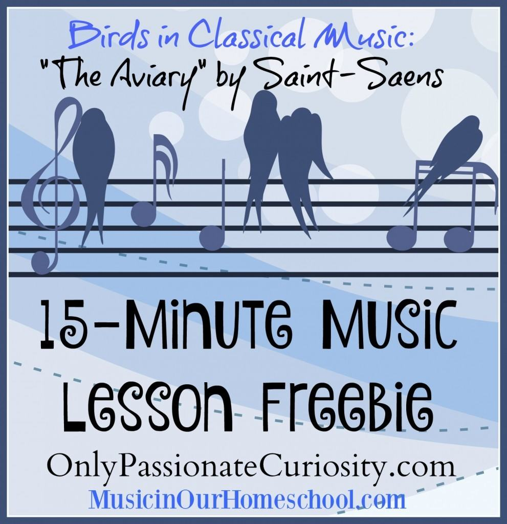 Birds in Classical Music {Free Music Lesson}