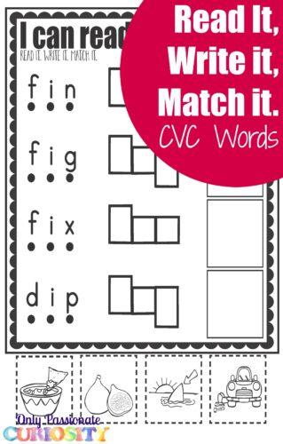 Free CVC Worksheets letter I