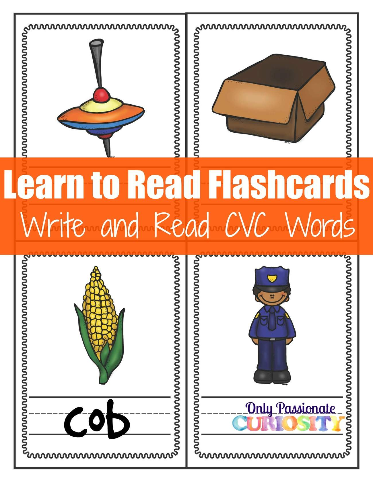 Read and Write Flashcards: Learn to Read CVC O Words