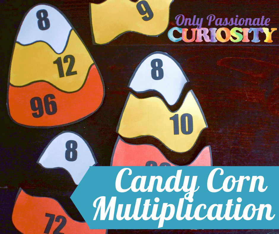 Candy Corn Multiplication Puzzles