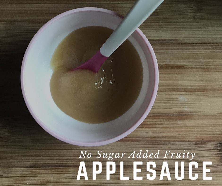 No Sugar Added Fruity Applesauce