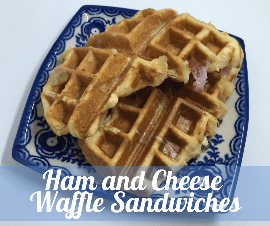 Easy Ham and Cheese Waffle Sandwiches