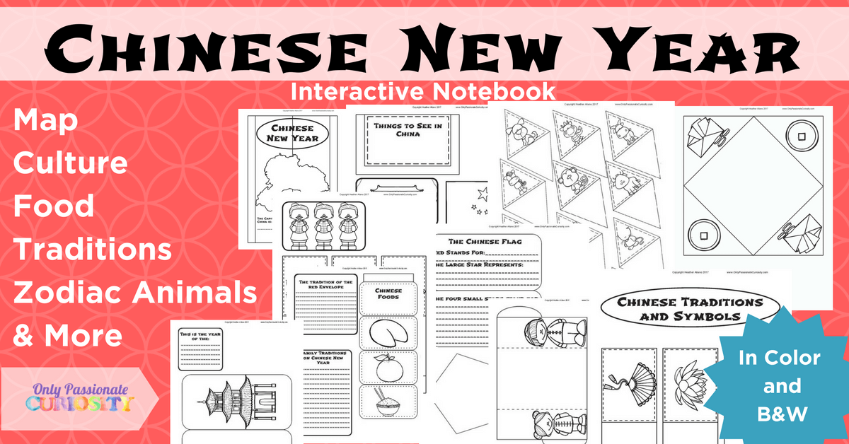 2e069fe93 Chinese New Year Interactive Notebook - Only Passionate Curiosity