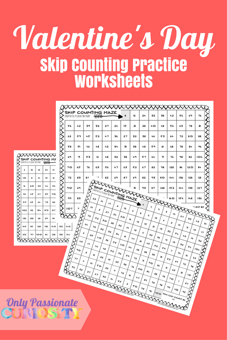 Valentine's Day Math: Skip Counting Practice