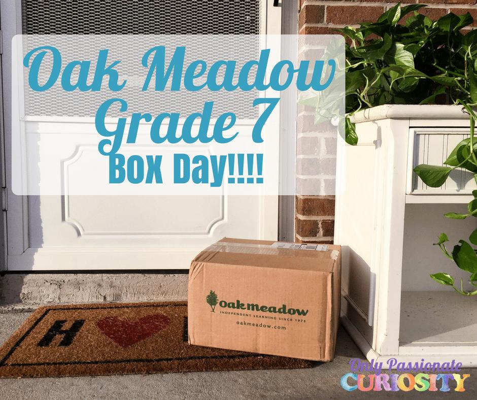 Oak Meadow Grade 7 {Box Day!}