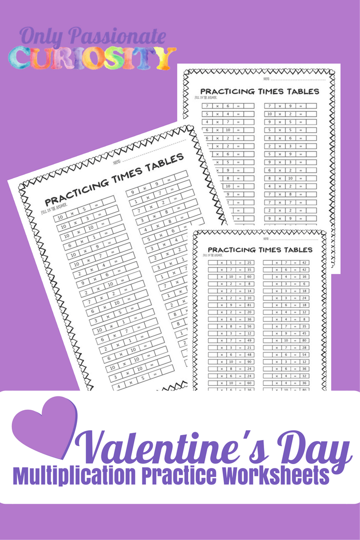 Valentine's Day Multiplication Practice