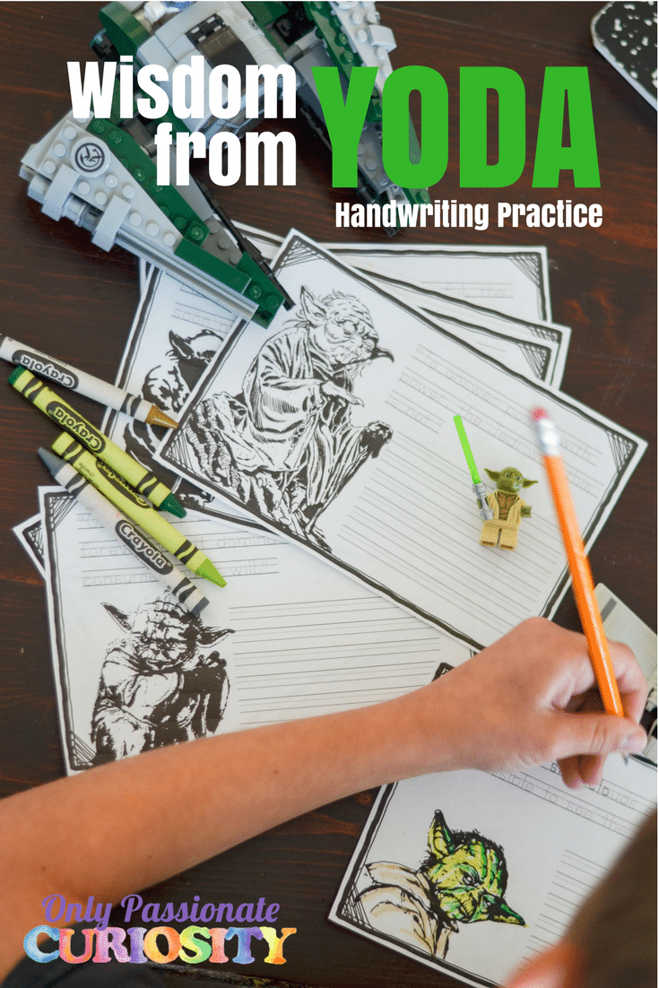 Wisdom from Yoda {Handwriting Practice}