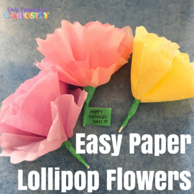 Easy Paper Lollipop Flowers