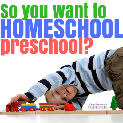 So you want to Homeschool Preschool?