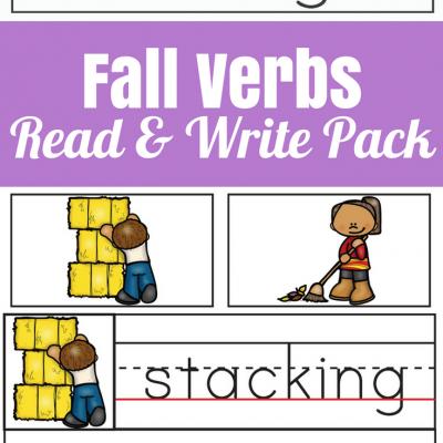 Fall Verbs Read & Write Spelling Pack