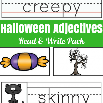 Halloween Adjectives Read and Write Pack