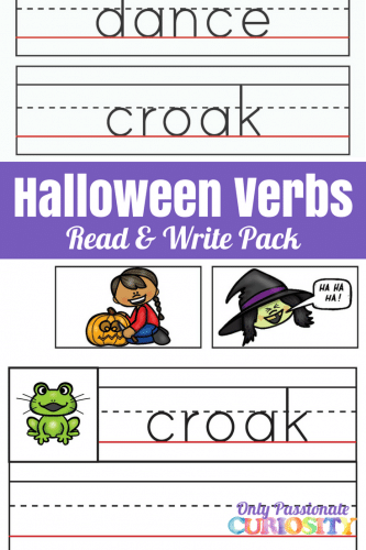 Halloween Verbs Read and Write Pack – Only Passionate Curiosity