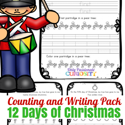 12 Days of Christmas: Ordinal Numbers