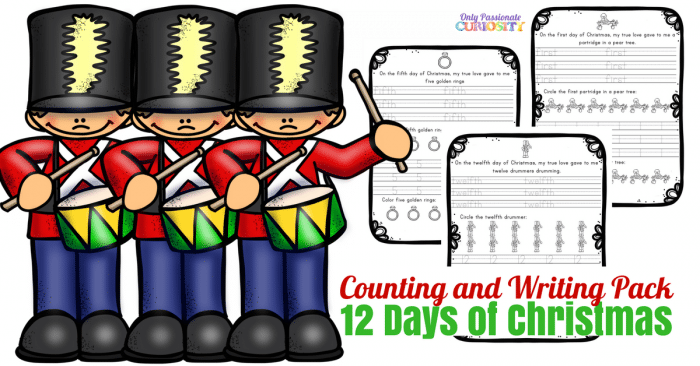 12 Days Of Christmas Ordinal Numbers Only Passionate Curiosity. Grab This Printable Pack In Our Shop And Make Sure You Check Out The Rest Of Holiday Printables If Are Looking For More Ways To Save On Your. Worksheet. 12 Days Of Christmas Worksheet At Clickcart.co