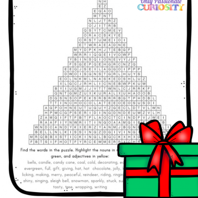 Christmas Parts of Speech Word Search