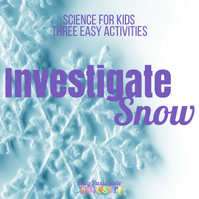 3 Easy Investigations to Explore Snow!
