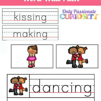 Valentines Day Verb Word Wall