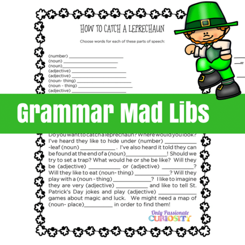 picture about Mad Libs for Adults Printable titled St. Patricks Exciting Printables - Basically Pionate Interest