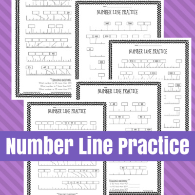 Number Line Printable Worksheets